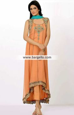 Modern Style Anarkali Dress for Wedding and any Occasion This modern anarkali dress that only has a beautif