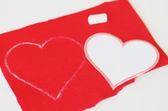 DIY – Felt Heart Elbow Patches