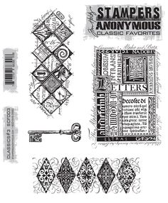 Tim Holtz Classic Favourites No 3 This collection contains 4 individual Ezy mounted stamps chosen by Tim Holtz They are mounted on the new clear
