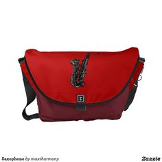 Saxophone Messenger Bag
