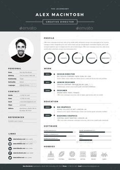 Resume  Template Cv Template And Ai Illustrator