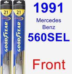 Front Wiper Blade Pack for 1991 Mercedes-Benz 560SEL - Hybrid