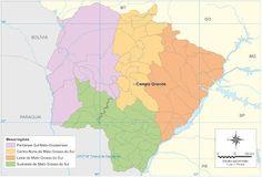 Mato Grosso do Sul - Conheça seu Estado (História e Geografia): 13 - Mesorregiões do Mato Grosso do Sul