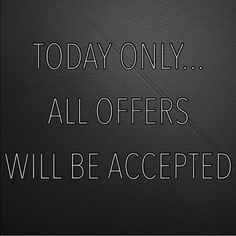 Offer accepted only today!!! Make your reasonable offer please :) Other