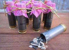 Shotgun shells filled with confetti sunflower seeds or rice