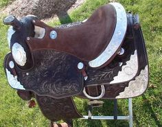 Saddles 47291: Dark Oil Fully Tooled Full Silver Show Western Pleasure Saddle 16 Gift Idea! -> BUY IT NOW ONLY: $545 on eBay!