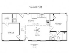 2 bedroom with loft homestead floor plans. Would just change laundry area a little to allow for pantry storage also. Shed House Plans, Bedroom House Plans, Small House Plans, Duplex Floor Plans, Cabin Floor Plans, Tiny Cabin Plans, Tiny House Layout, House Layouts, Home Design