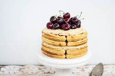 Belgian #Waffle Cake Recipe with Sorghum Buttercream