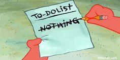 La lista perfecta que algunos quisieran seguir todos los dias.  Seria muy aburrido para mi!  -- the perfect list that some  wish to follow every day! That would be so boring for me!