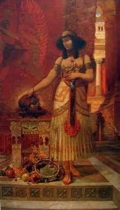Gustav-Adolf Mossa (Français, 1844-1926), Salomé ou prologue du Christianisme, 1901.Huile sur toile, 241 x 140 cm. Musée des Beaux-Arts de Nice. Peintre symboliste.