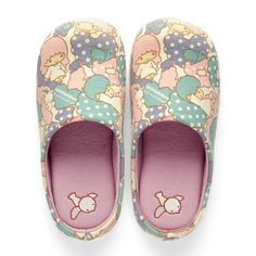 Little Twin Stars Kiki Lala Embroidered Slippers - sakuraya japan kawaii  fashion  littletwinstars  kikilala 14fa928b2460b