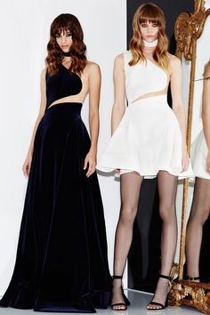 Black Avant Gard Gown and White Short Dress by Zuhair Murad, Look #7