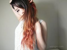Asian inspired makeup tutorials: Ombre hair and chemical free tinting! - ...