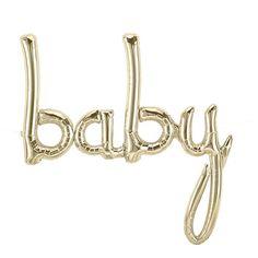 """Ballon """"baby"""" doré -"""