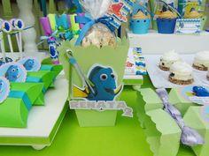 SD Eventos: BUSCANDO A DORY! Finding Dory birthday party Finding Dory sweet table Candy Bar Buscando a Dory Golosineras Cajitas Boxes