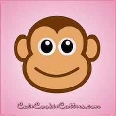 View Fancy Monkey Head Cookie Cutter in detail