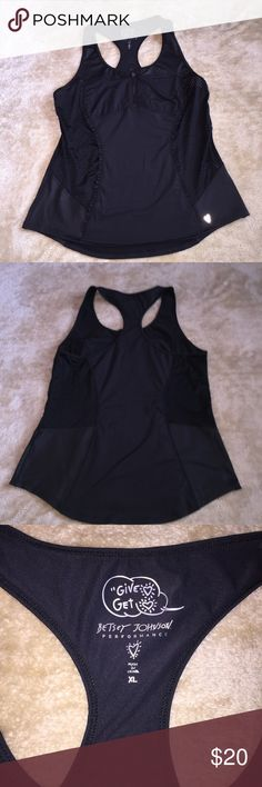 """Betsey Johnson"" Performance Tank Top Like new ""Betsey Johnson"" Performance Tank Top. Perfect for a workout outfit or as a more covered bathing suit.. Betsey Johnson Tops Tank Tops"
