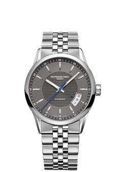 Freelancer 2770-ST-60021 Mens Watch - Freelancer automatic date 38 mm Steel on steel grey dial | RAYMOND WEIL Genève Luxury Watches