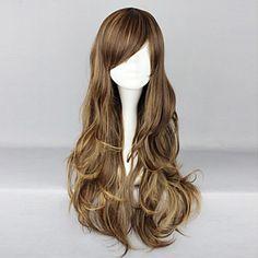 Brown Highlight Cosplay Wig|75cm Cosplay Wig |Classic Lolita Cosplay Wig|Brown Highlight 75cm Classic Lolita Cosplay Wig