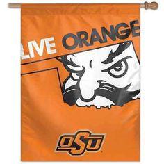 "OKLAHOMA STATE COWBOYS LIVE ORANGE 27""X37"" BANNER FLAG BRAND NEW WINCRAFT"