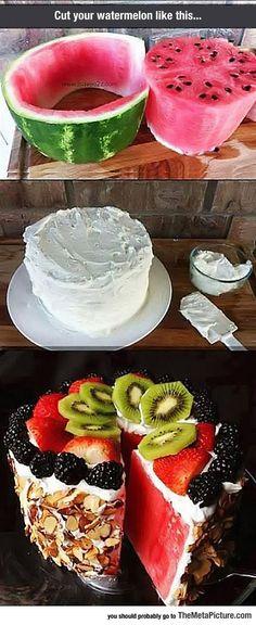Delicious Watermelon Cake - The Meta Picture