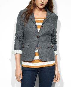 Levi's Tweed Blazer - Vinyl - Jackets & Vests #CutWithGrace