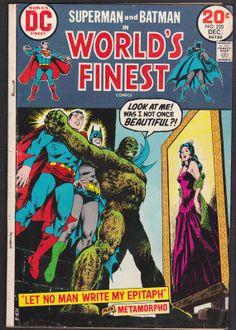 1973 Worlds Finest  Superman and Batman vintage used comic #220 december