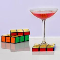 Rubix cube coasters! Great use of a Rubix cube, because I sure as heck can't solve one!
