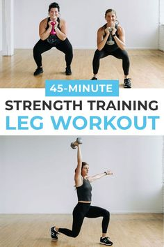 STRENGTH TRAINING is for everyone! This LIFT HEAVY strength training workout is perfect for women looking for an effective leg workout at home! We're hitting the hamstrings, thighs, glutes, quads (and some sneaky core work!) -- you'll be sure to feel this one tomorrow!