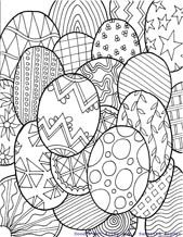 Easter coloring pages-fun doodle style coloring pages for all sorts of holidays