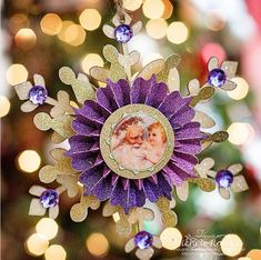 Learn how to make Christmas ornaments with a vintage vibe, like this Vintage St. You can make this gorgeous DIY paper ornament by layering a wood base, glittery paper snowflake, rosette, and old-fashioned image of Santa Claus. Vintage Christmas Crafts, Christmas Craft Fair, Christmas Ornaments To Make, Christmas Paper, Christmas Ideas, Homemade Christmas, Christmas Cards, Christmas Decorations, Christmas Tree