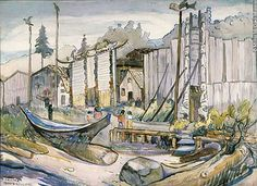 McCord Museum of Canadian HIstory Tom Thomson, Canadian Painters, Canadian Artists, Emily Carr Paintings, Group Of Seven Paintings, Vancouver Art Gallery, Historical Images, Native American Art, First Nations