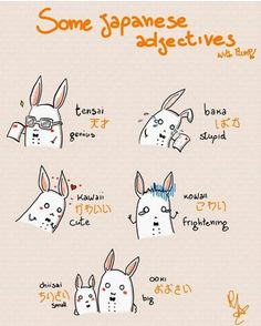 Let's Learn Japanese Adjectives! What's your favorite Japanese adjective? Basic Japanese Words, Japanese Phrases, Study Japanese, Japanese Kanji, Japanese Culture, Japanese Language Lessons, Korean Language, Japanese Quotes, Turning Japanese