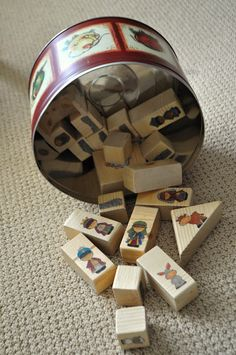 Nativity Blocks - Fun to make from recycled bits of wood. Just sand the blocks and choose from a variety of ways to decorate them. Adorable, durable, hands-on fun from i am momma hear me roar.