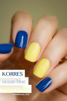 Korres Nail Polish Yellow Nails Design Art Blue Designs