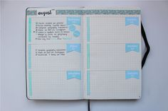 "photostudyblr: "" Since I had a lot of notes on my last bullet journal pictures, I decided to show some pages from my daily spread. I've gone with a blue theme and so far, I think it looks really..."