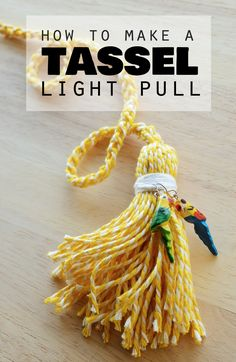 How to make a tasselled light pull with baker's twine   craftingfingers.co.uk #DIY #home #decor