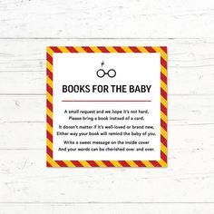 Harry Potter Gryffindor Baby Shower Book Instead by CrissyDesignCo