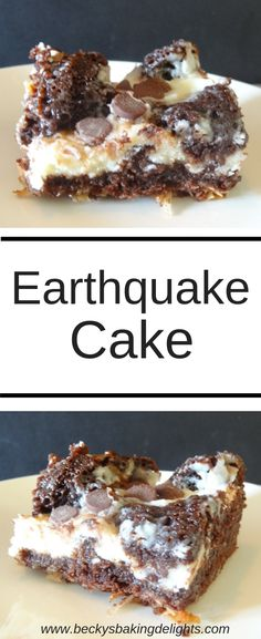 Earthquake Cake is a jazzed up version of chocolate cake enhanced with coconut, pecans, semisweet chocolate chips, and cream cheese. This is a delicious, gooey chocolate treat.