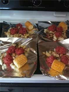 Hobo Dinner - in the oven or on the grill - FUN!