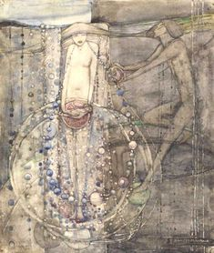 Man Makes the Beads of Life but Woman Must Thread Them by Frances MacDonald MacNair