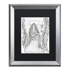 "Trademark Art 'Fairy' by KCDoodleArt Framed Graphic Art Matte Color: Black, Size: 20"" H x 16"" W x 0.5"" D"