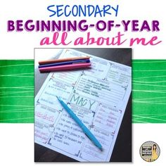 Back to School Ice Breaker All About Me Activity for the Secondary ClassroomThis activity is great for the first day of school. It can be done in one class period and incorporates a get-to-know-you activity that allows students to share about themselves.