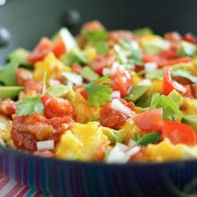 Healthified Breakfast Nachos at laurenslatest.com