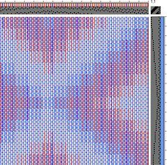 Partial thread-by-thread draft for Turned Taquete Variation Loom Knitting Patterns, Weaving Patterns, Knitting Stitches, Stitch Patterns, Knitting Tutorials, Free Knitting, Tablet Weaving, Loom Weaving, Hand Weaving