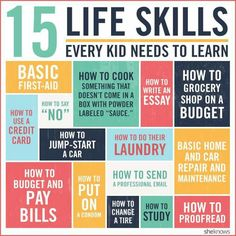 15 things your child needs to know before they leave for college. From changing tires to budgeting, these life skills are a must when your kids leave the nest. Don't pack your student off to college without teaching them these essential life skills. Kids And Parenting, Parenting Hacks, Parenting Classes, Parenting Styles, Parenting Ideas, Parenting Articles, Foster Parenting, Parenting Quotes, Parenting Websites
