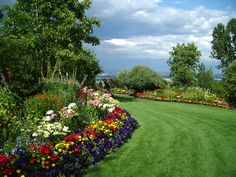 A small part of the Bibler Gardens in Kalispell, MT. Incredible private estate garden, open for tours twice every year. Acres of intensive planting, ponds, amazing view of Glacier Park, thousands of bulbs in spring. A must see if you are in the area. Dedicated staff of gardeners, mostly organic.