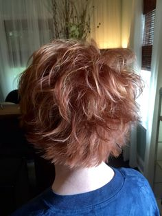 Red hair with balayage highlights by Devon