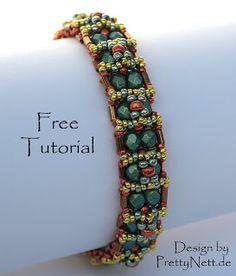 "Free Tutorial Beading Bracelet for ""Восточный"" by PrettyNett.de"
