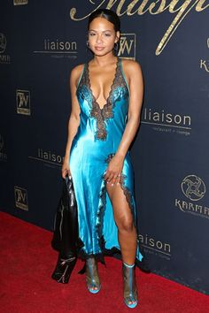 Christina Milian makes nightwear work for the red carpet